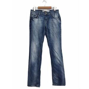 Zara Woman Premium Collection Aged Denim Jeans 6